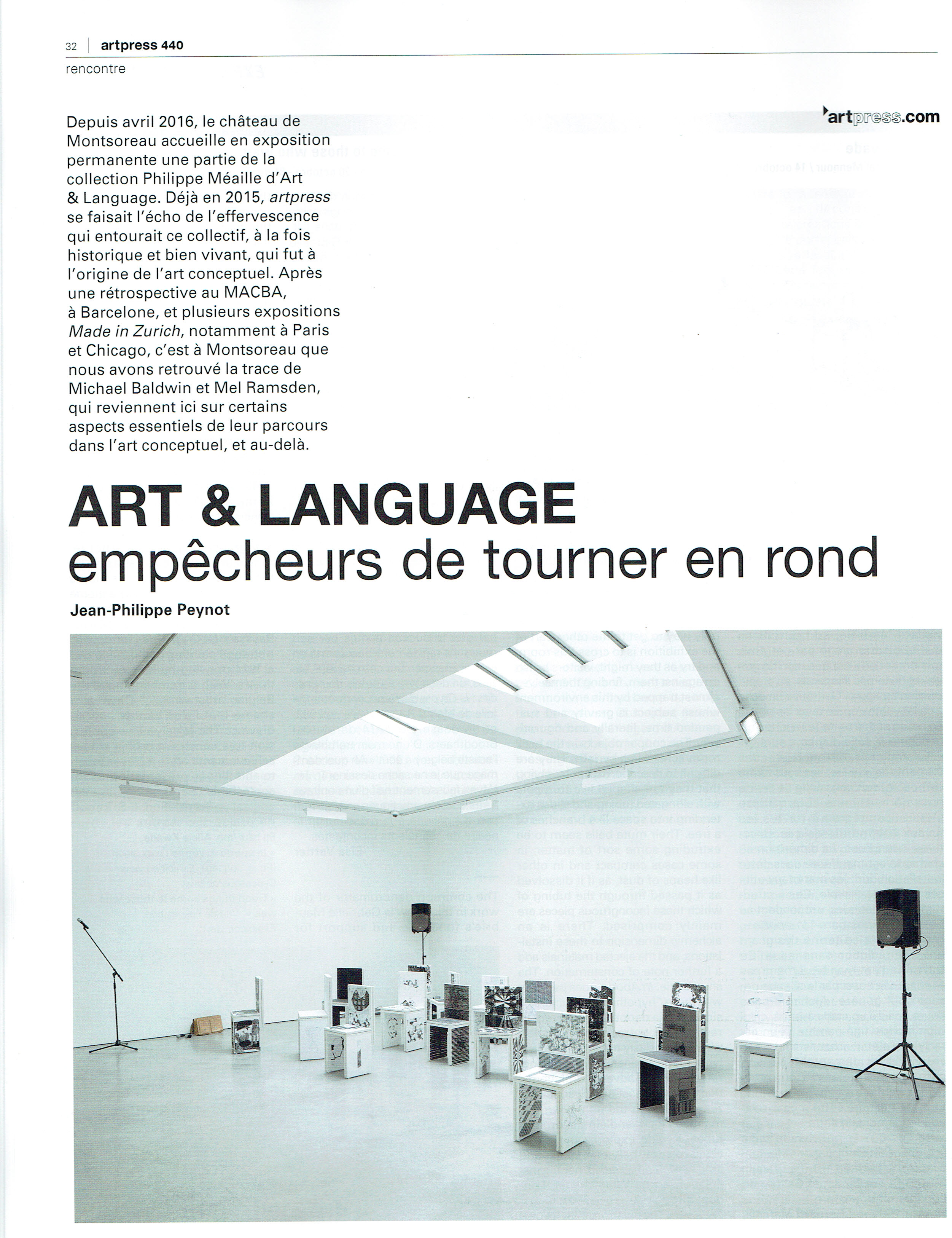 Article about Art & Language published by Art Press